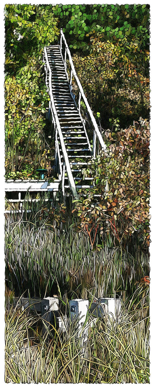 Secret Stairs Giclee