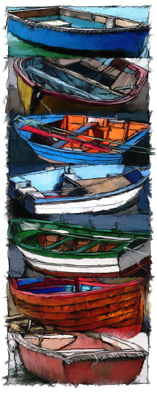 Seven Dinghies Giclee