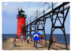 South Haven Lighthouse Giclee