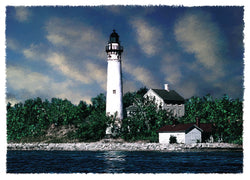 South Manitou Island Lighthouse Giclee