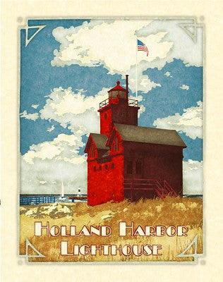 Holland Harbor Lighthouse Giclee