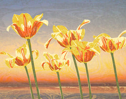 Lake Michigan Tulips Giclee