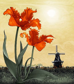 Orange Tulip Giclee