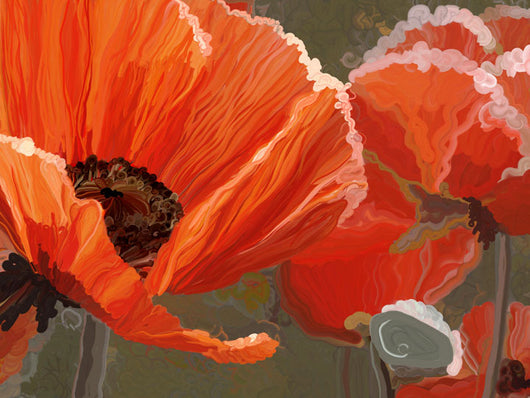 Orange Poppies Giclee