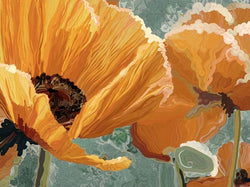 Poppies In Gold Giclee