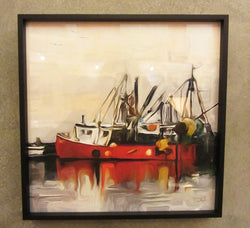 Red Boat Framed Giclee