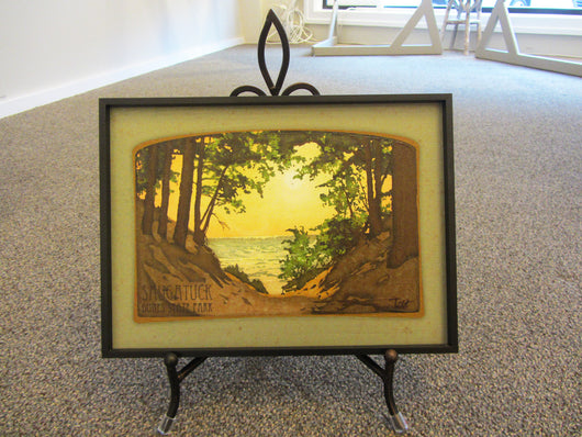 Saugatuck Dunes Gelled Canvas Framed