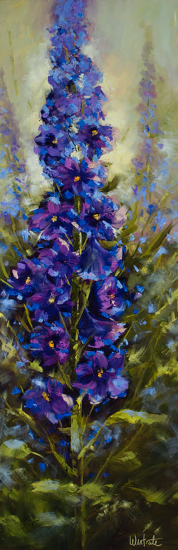 Delphinium Star Oil Painting