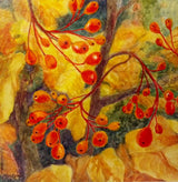 Autumn Bling Watercolor Painting