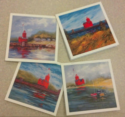 Big Red Lighthouse Notecards