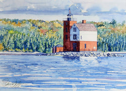 Round Island Lighthouse Giclee