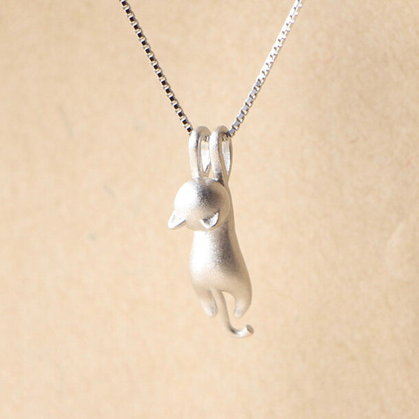 Sterling Silver Cat Necklace GIVEAWAY