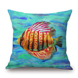 Tropical Fish Pillow Covers