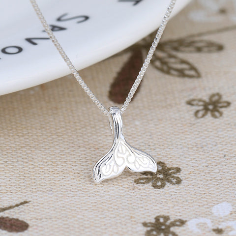 Silver Mermaid Tail Necklace GIVEAWAY