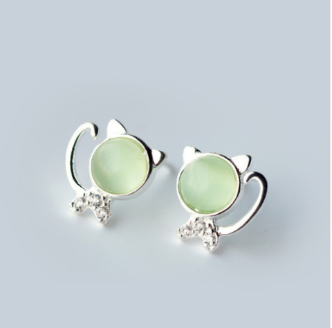 Silver Cat Earrings GIVEAWAY