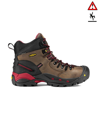 Men's Pittsburgh High Steel Toe - Bison/Red 1007024