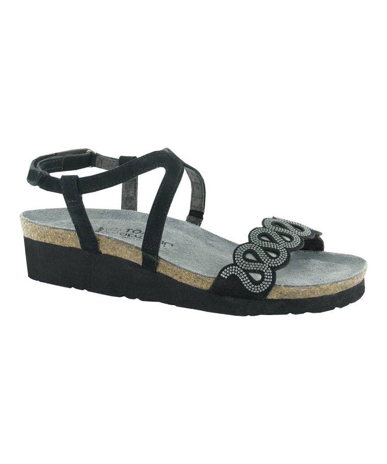 Women's Addie Sandal - Black with Silver Rivets 4014NLH