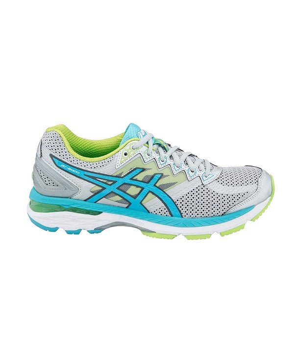Women's GT 2000 V4 (Wide) - Silver/Turquoise/Lime T657N9342