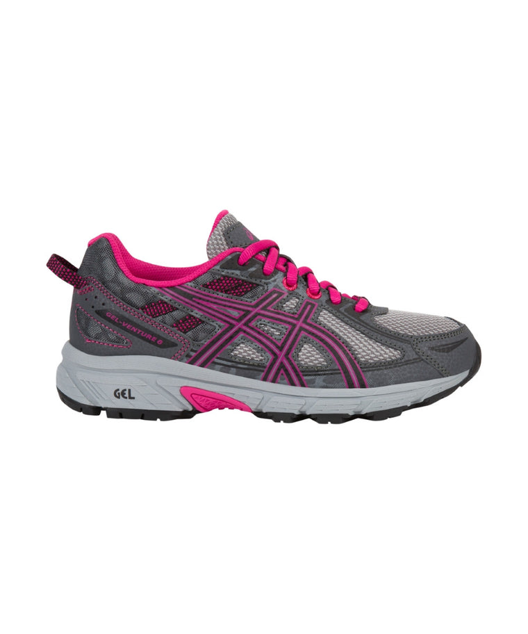 Youth Gel-Venture 6 GS - Carbon/Black/Sport Pink C744N9790