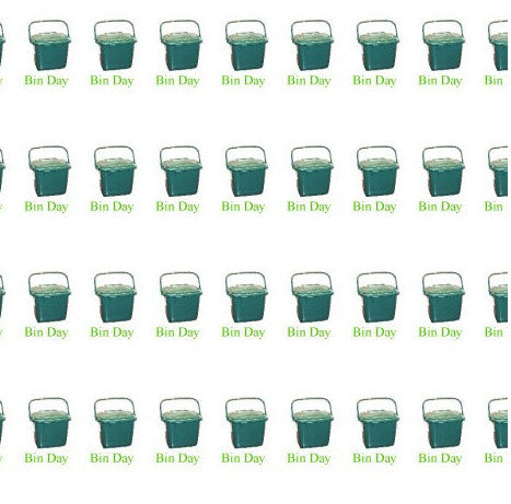 Bin Day Calendar Labels Green