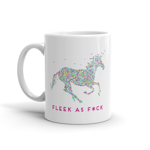 Fleek as F*ck unicorn mug