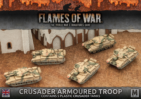 Flames of War Crusader Armoured Troop In Stock Ready to Go