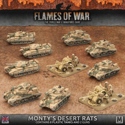 Flames Of War Monty's Dessert Rats Set