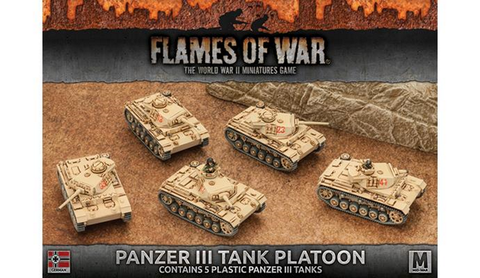 Flames of War Panzer 111 Tank Platoon (In-Stock Ready to Go)