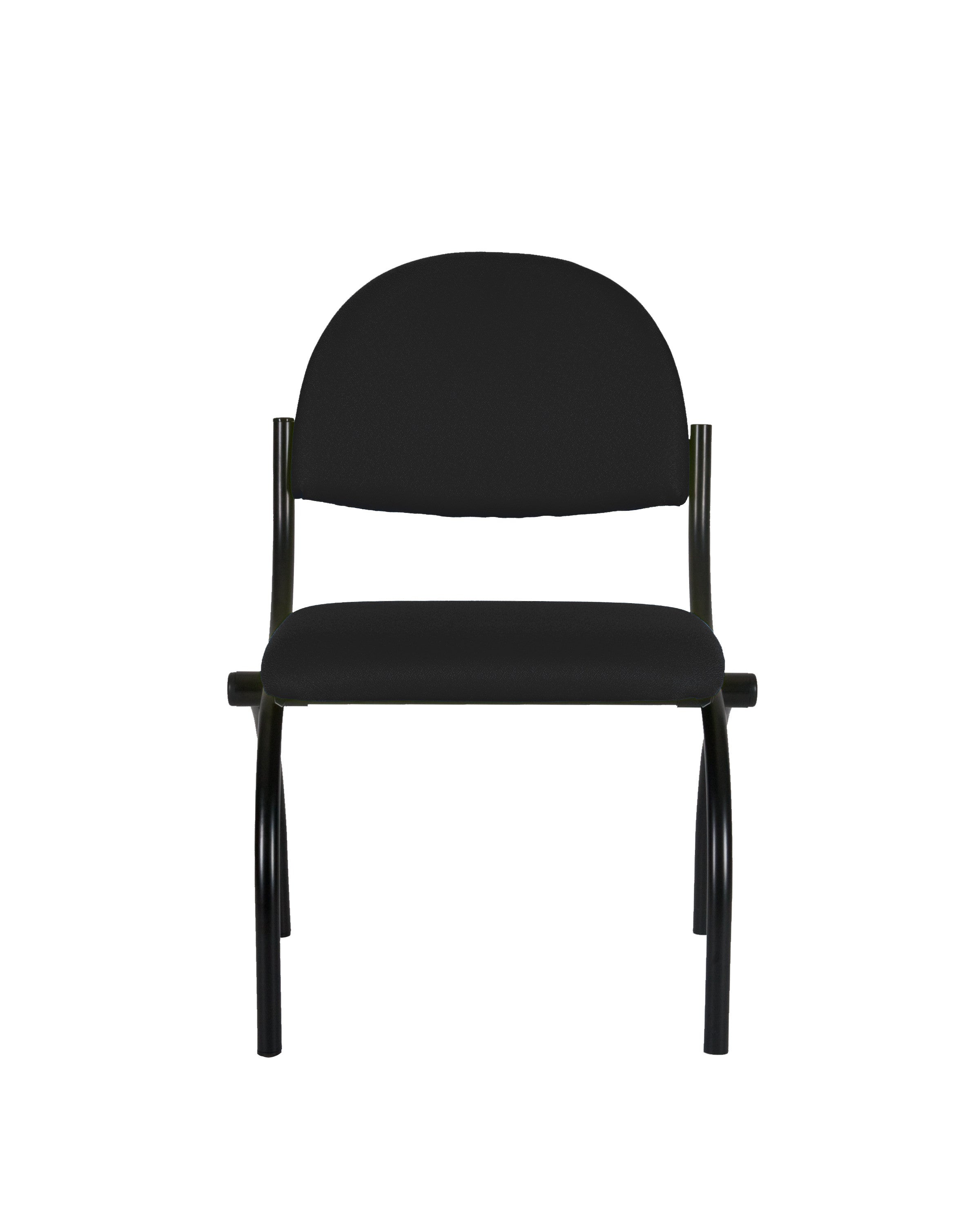 Fabric Comfortable Steel Guest Chair (Black)