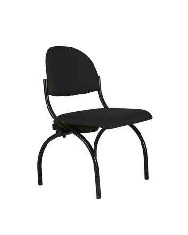 Modern Fabric Upholstered Stacking Guest Chair with Arms by Charm Furniture (Black)