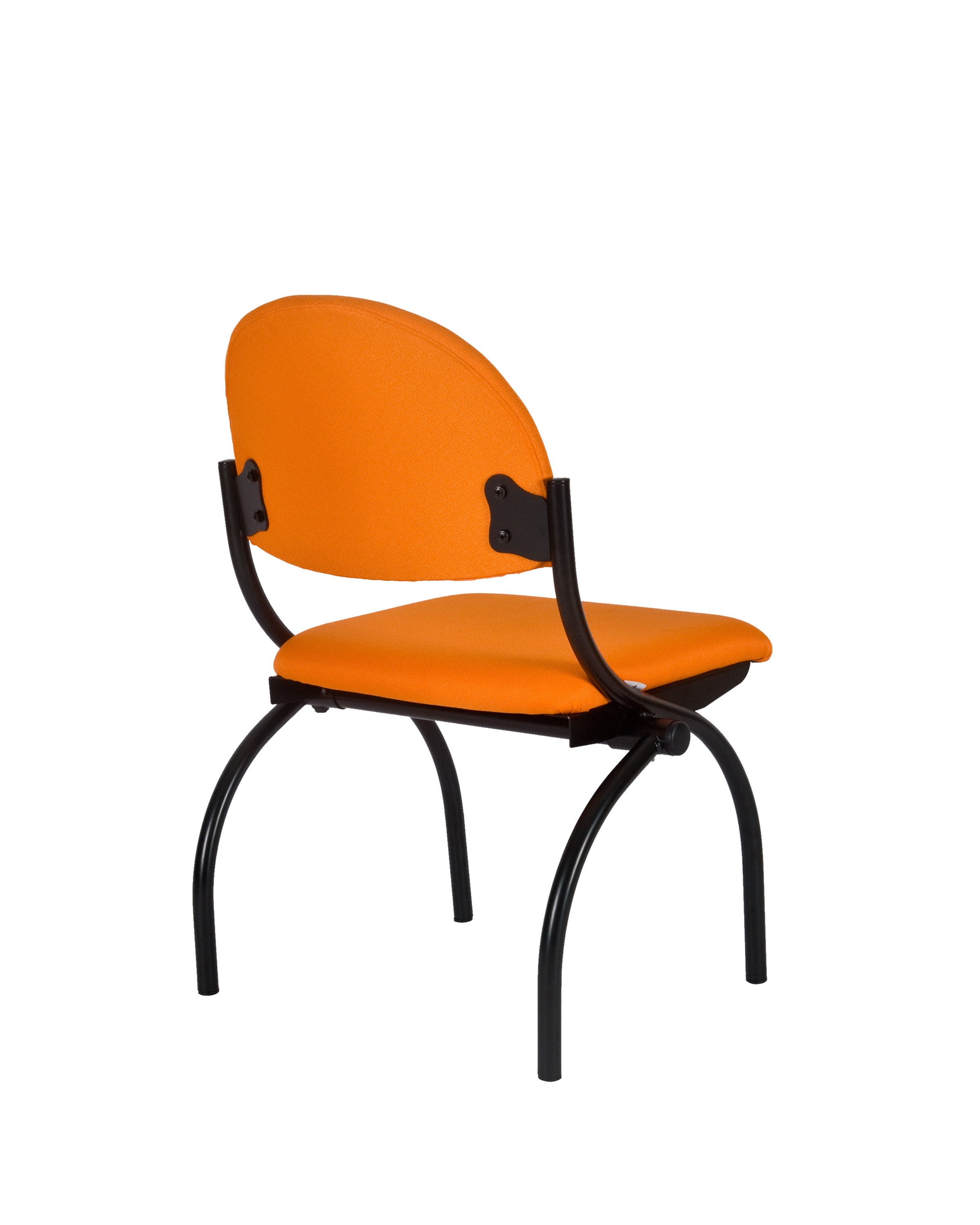 Fabric Comfortable Steel Guest Chair  (Orange)