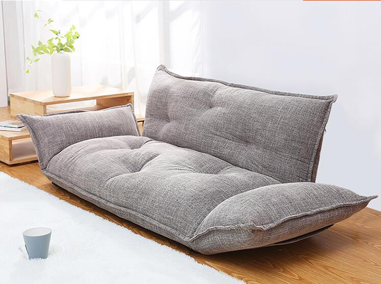 Modern Design Floor Sofa Bed  5 Position Adjustable Sofa Plaid Japanese Style Furniture Living Room Reclining Folding Sofa