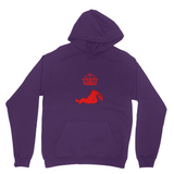 """Not, Just"" Unisex Hoodie, Red"