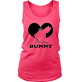 """Ruling Bunny"" District Womens Tank, Black Heart"