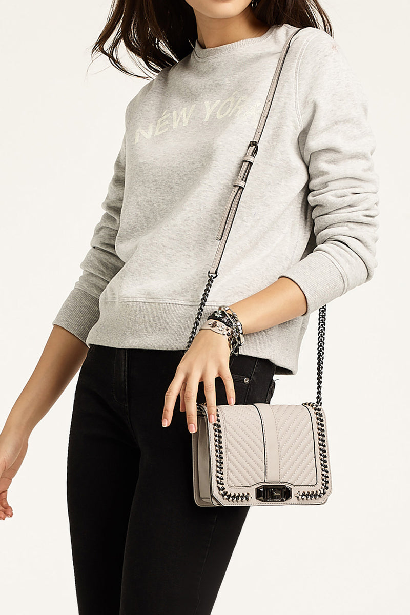Small Love Crossbody with Chain