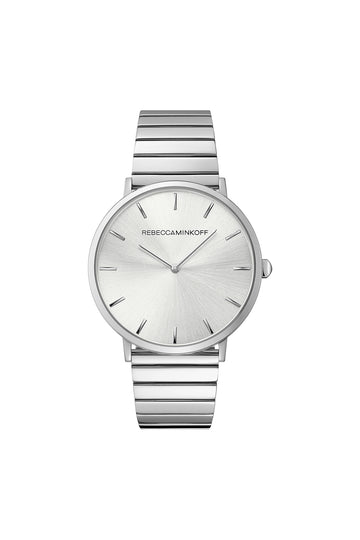 Major Silver Tone Bracelet Watch, 40MM