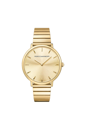Major Gold Tone Bracelet Watch, 35MM