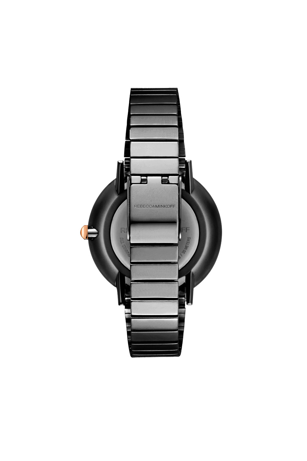 Major Gunmetal Tone Bracelet Watch, 35MM