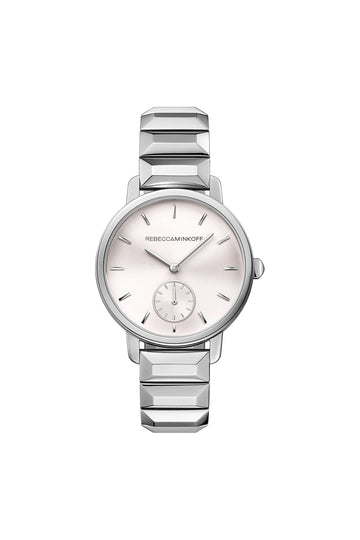 BFFL Silver Tone Bracelet Watch, 36MM