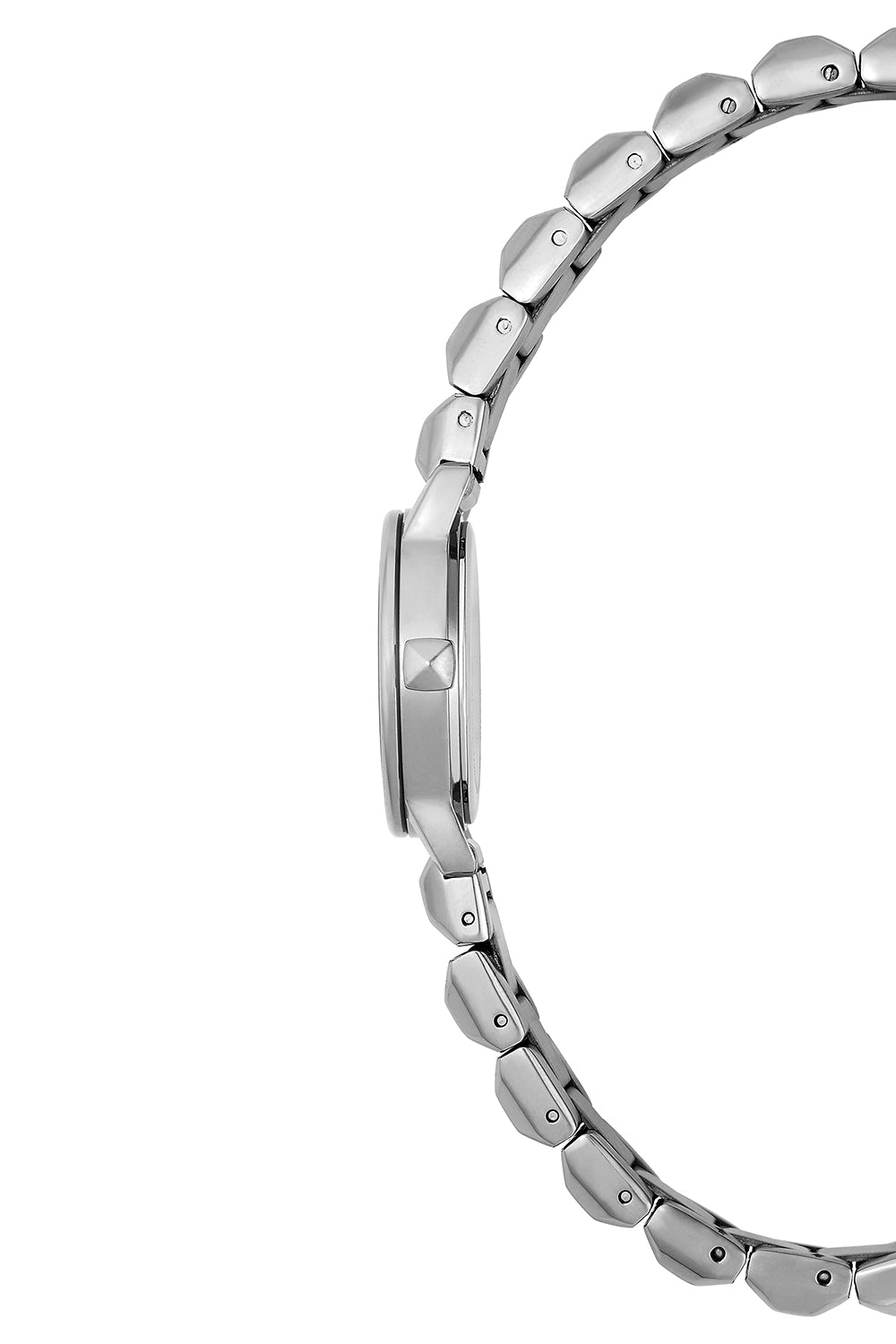 BFFL Silver Tone Bracelet Watch, 25MM