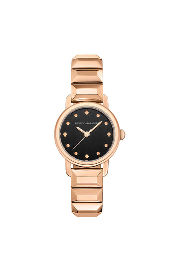 BFFL Rose Tone Bracelet Watch, 25MM