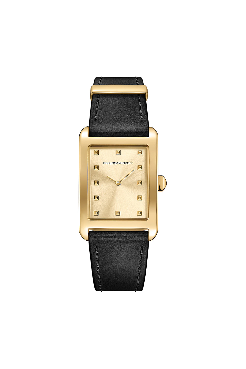 Moment Gold Tone Leather Watch, 26.5MMx38.5MM