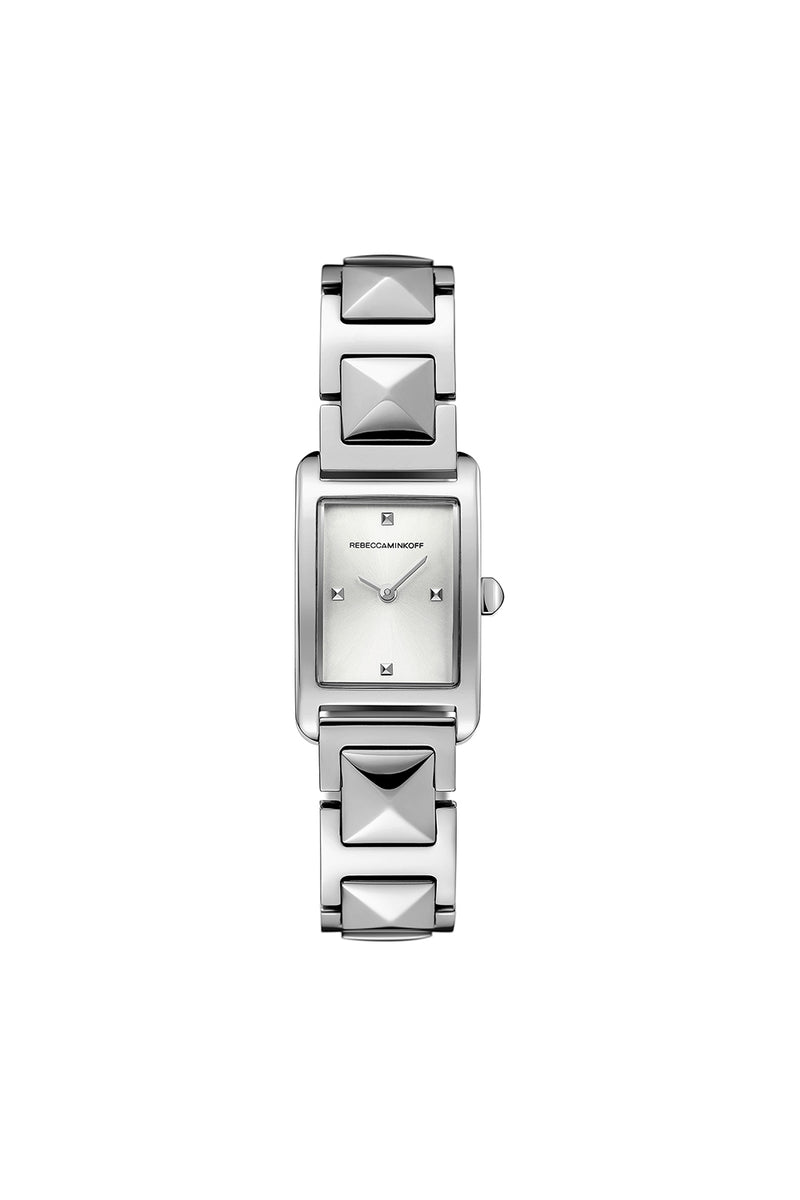 Moment Silver Tone Bracelet Watch, 19MM X 30MM