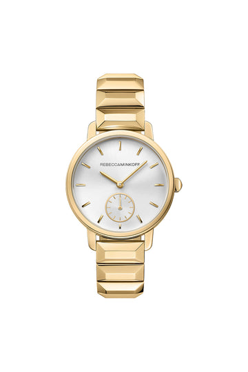 BFFL Gold Tone Bracelet Watch, 36MM