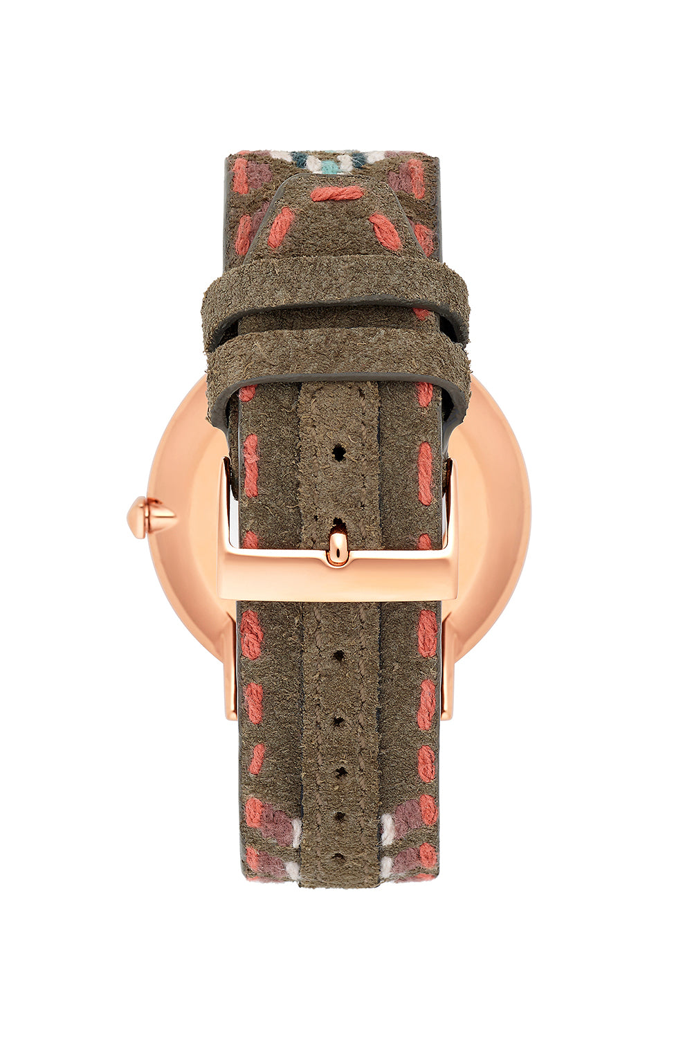 Major Rose Tone Stitch Jacquard Strap Watch, 40MM