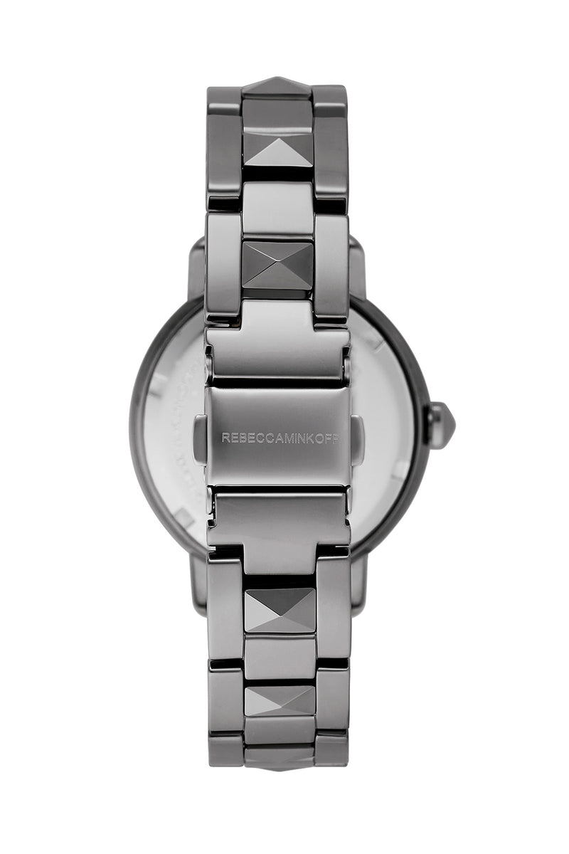 BFFL Silver Ceramic Bracelet Watch, 36MM
