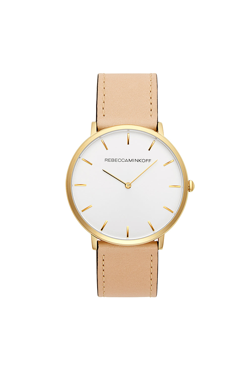 Rebecca-Minkoff Major Gold Tone Vanchetta Strap Watch, 40MM