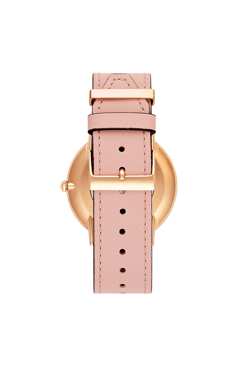 Major Rose Gold Tone Blush Strap Watch, 40MM