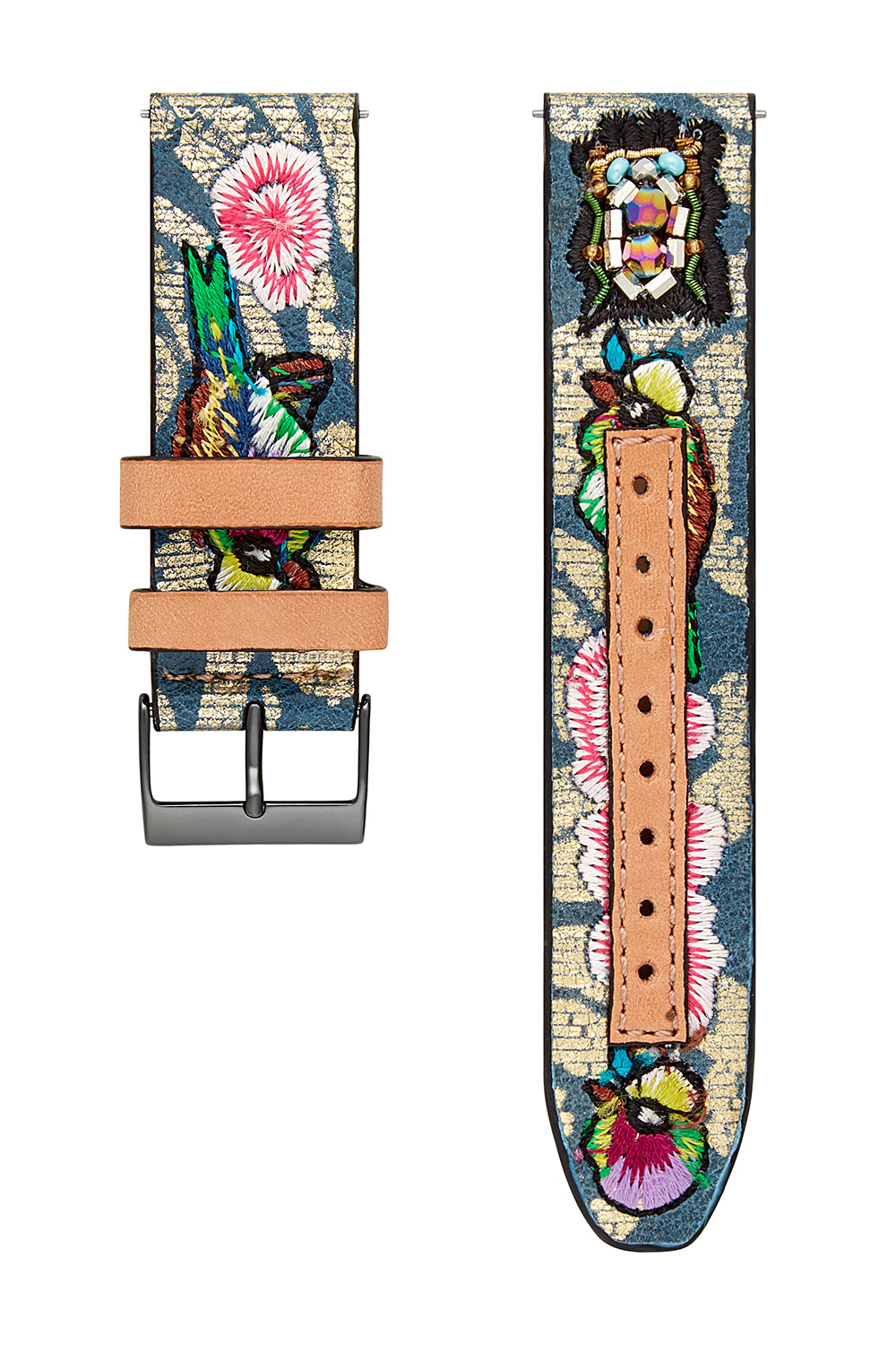 Major Interchangeable Floral Embroidered Strap