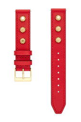 Major Interchangeable Red Studded Leather Strap